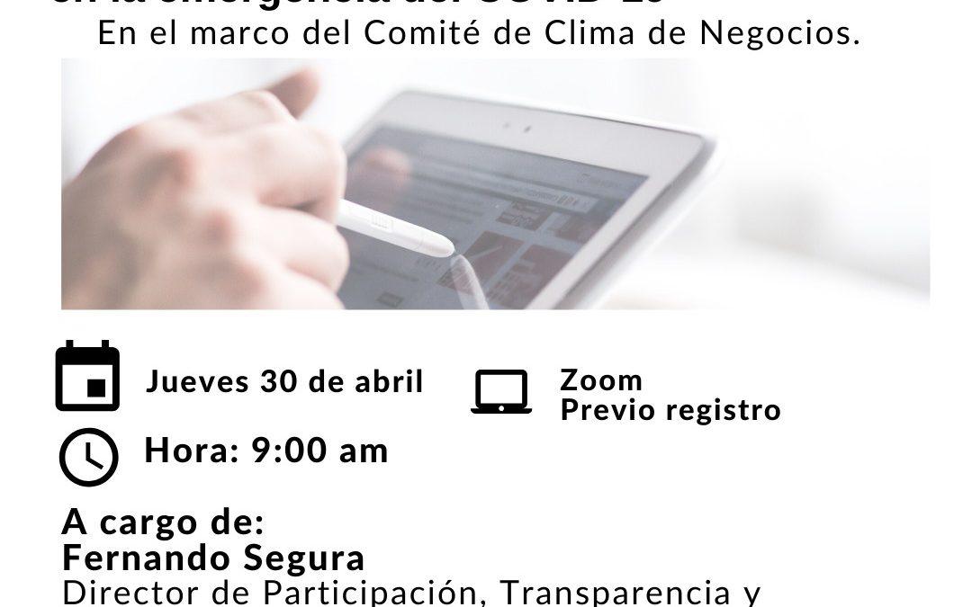 Aplicación del decreto antitrámites para mejorar la presentación de servicios y trámites en la emergencia del COVID-19