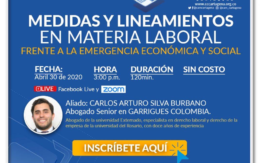 Medidas y lineamientos en materia laboral frente a la emergencia económica y social