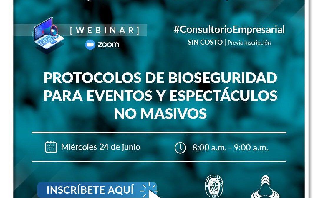 Protocolos de bioseguridad para eventos y espectáculos no masivos