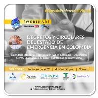 Decretos y circulares del estado de emergencias en colombia