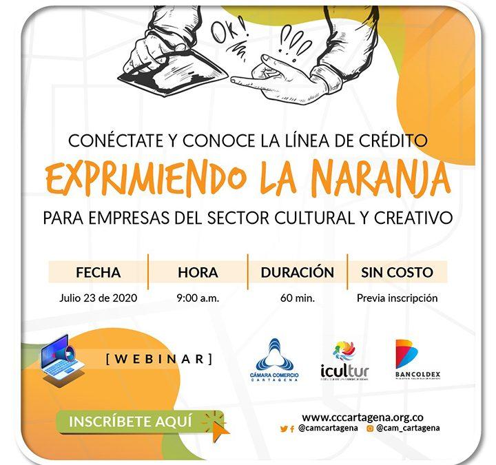 """Línea de crédito """"Exprimiendo la Naranja"""", para empresas del sector cultural y creativo"""