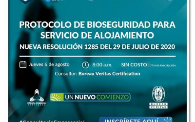 Protocolo de Bioseguridad para servicio de alojamiento