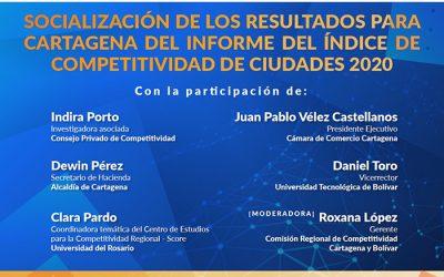 Socialización de los resultados para Cartagena del Informe del Índice de Competitividad de Ciudades 2020