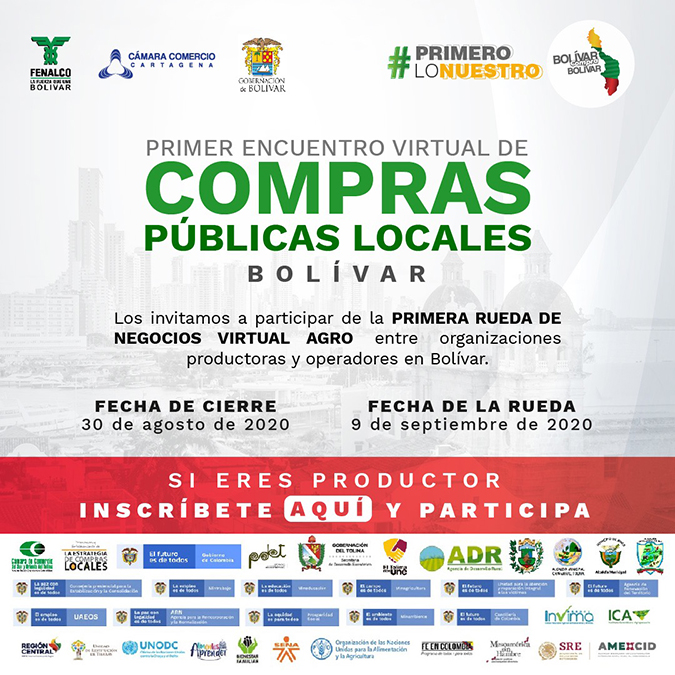 Primer Encuentro Virtual de Compras Públicas Locales – Inscripción de productores