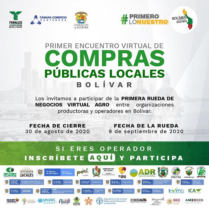 Primer Encuentro Virtual de Compras Públicas Locales – Inscripción de operadores