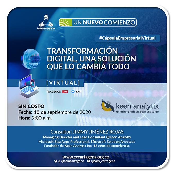 Webinar: Transformación Digital: Una solución que lo cambia todo