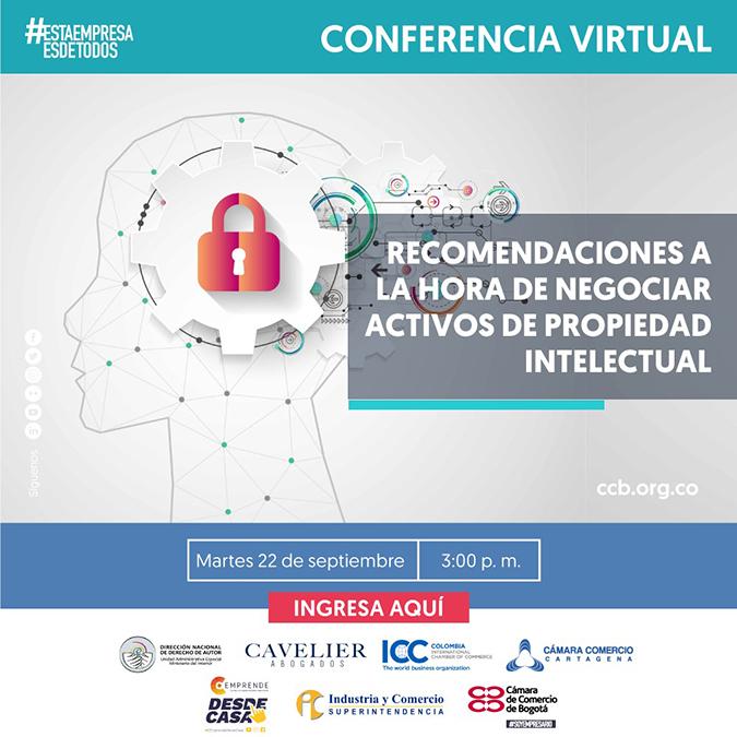 Conferencia virtual: Recomendaciones a la hora de negociar activos de propiedad intelectual