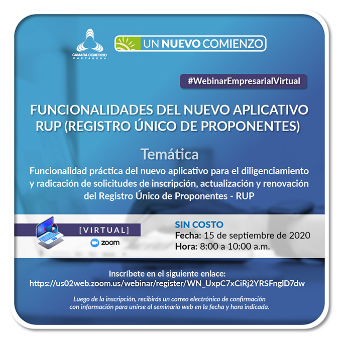 Cámara de Comercio de Cartagena estrenará aplicativo para el Registro Único de Proponentes