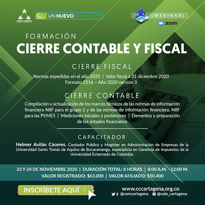 "Seminario Virtual: ""CIERRE CONTABLE Y FISCAL"""