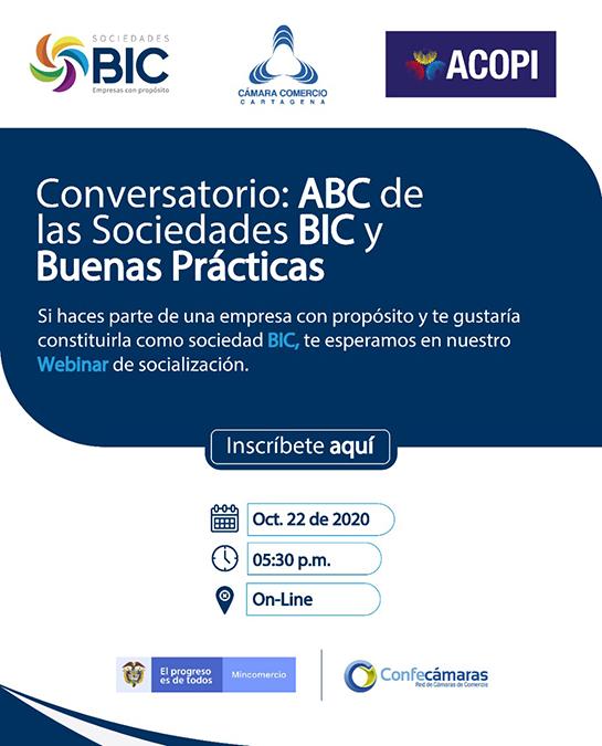 Conversatorio: ABC de las Sociedades de Beneficios e Interés Colectivo (BIC) y buenas prácticas