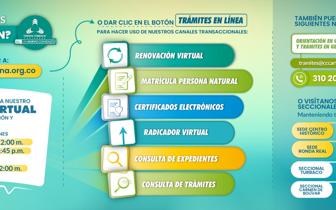 Servicios Virtuales de la Cámara de Comercio de Cartagena, activos y fortalecidos