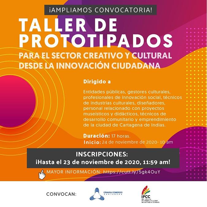 TALLER PROTOTIPOS PARA EL SECTOR CREATIVO Y CULTURAL DESDE LA INNOVACIÓN CIUDADANA