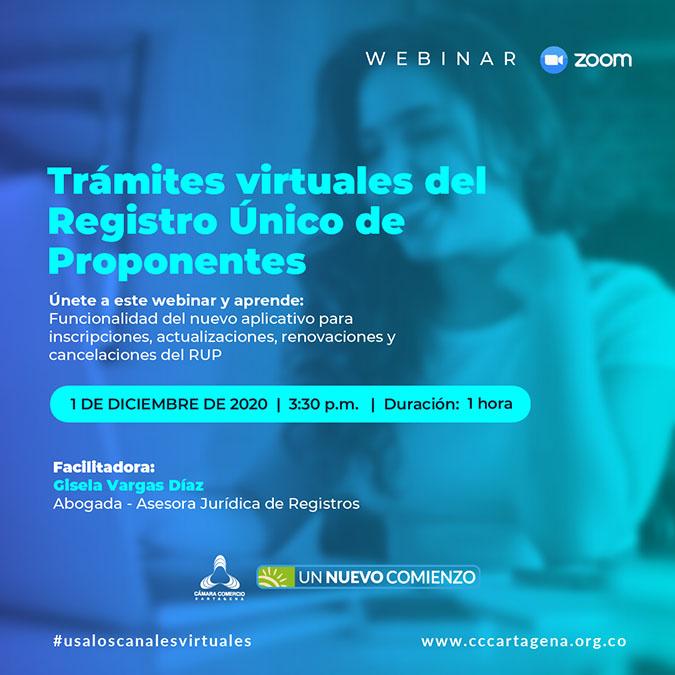 Trámites virtuales del Registro Único de Proponentes