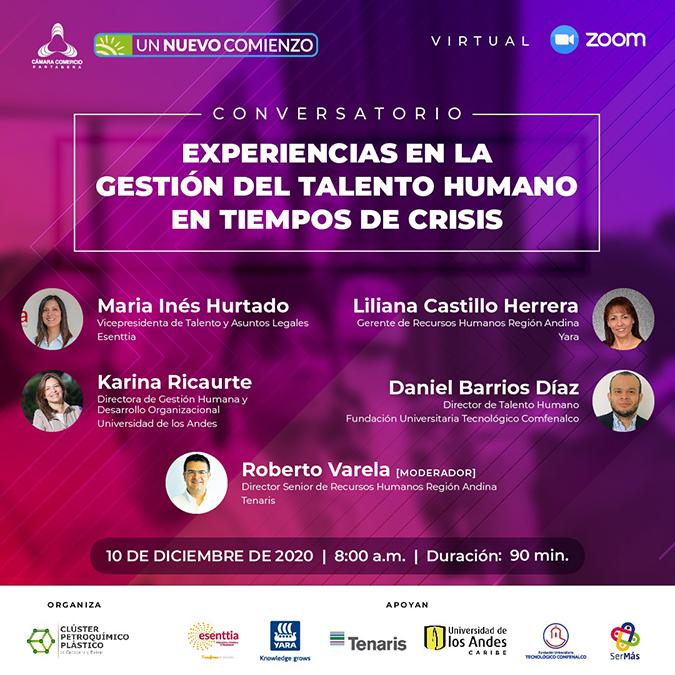 """Conversatorio """"Experiencias en la Gestión del Talento Humano en tiempos de crisis"""""""