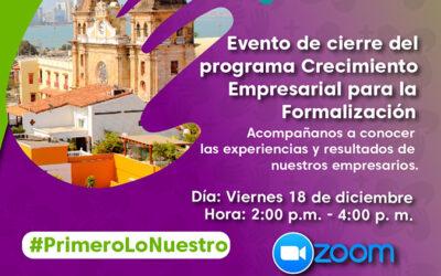 Evento Clausura Programa CREEce
