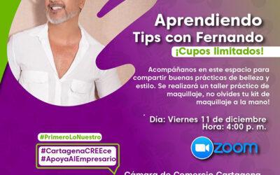 "Webinar CREEce: ""Aprendiendo tips con Fernando Pérez"""