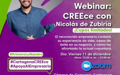 Webinar CREEce con Nicolás de Zubiría