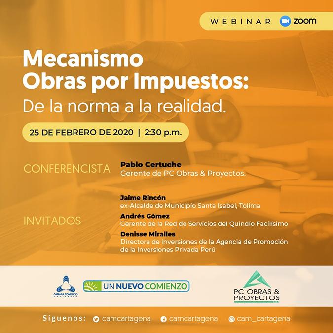"""Webinar """"Mecanismo Obras por Impuestos: De la norma a la realidad"""""""