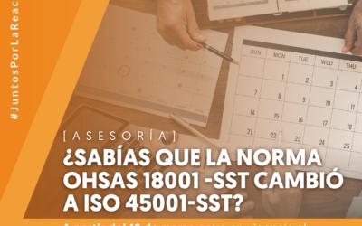 Te asesoramos en la transición de la norma OHSAS 18001-SST a la norma ISO 45001-SST