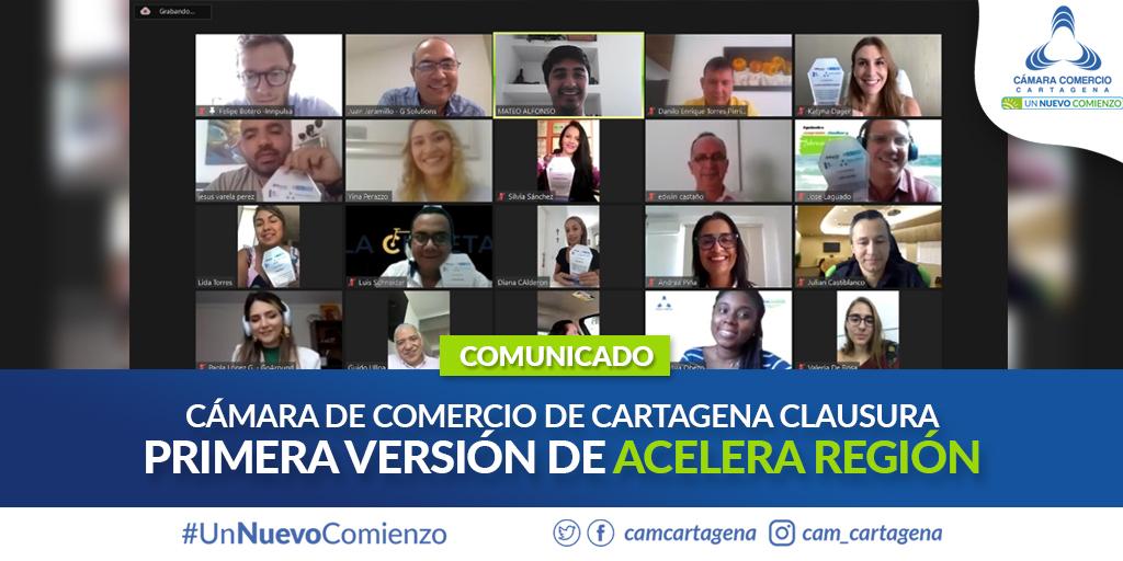 CÁMARA DE COMERCIO DE CARTAGENA CLAUSURA PRIMERA VERSIÓN DEL PROGRAMA ACELERA REGIÓN