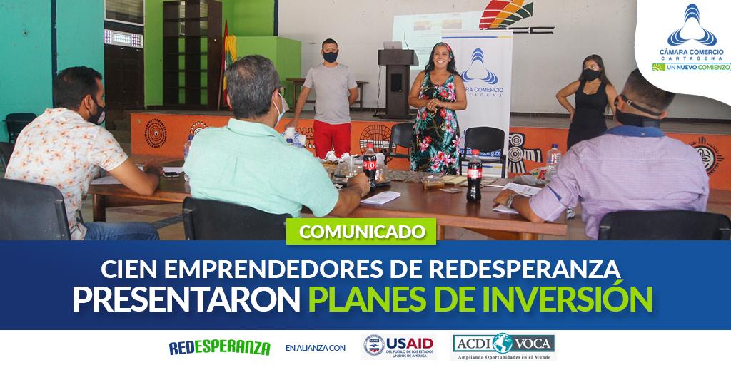 Cien emprendedores del proyecto Redesperanza, presentaron sus planes de inversión ante el jurado calificador
