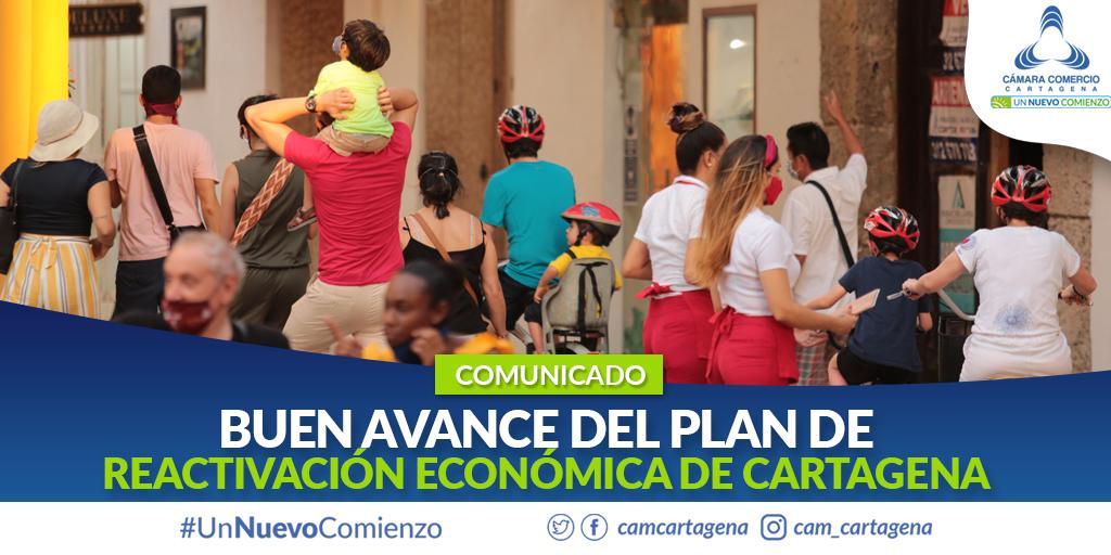 Buen avance del Plan de Reactivación Económica de Cartagena