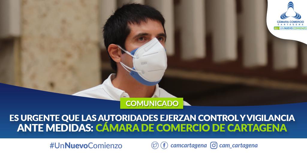 """""""Es urgente que las autoridades ejerzan control y vigilancia"""": Cámara de Comercio de Cartagena"""