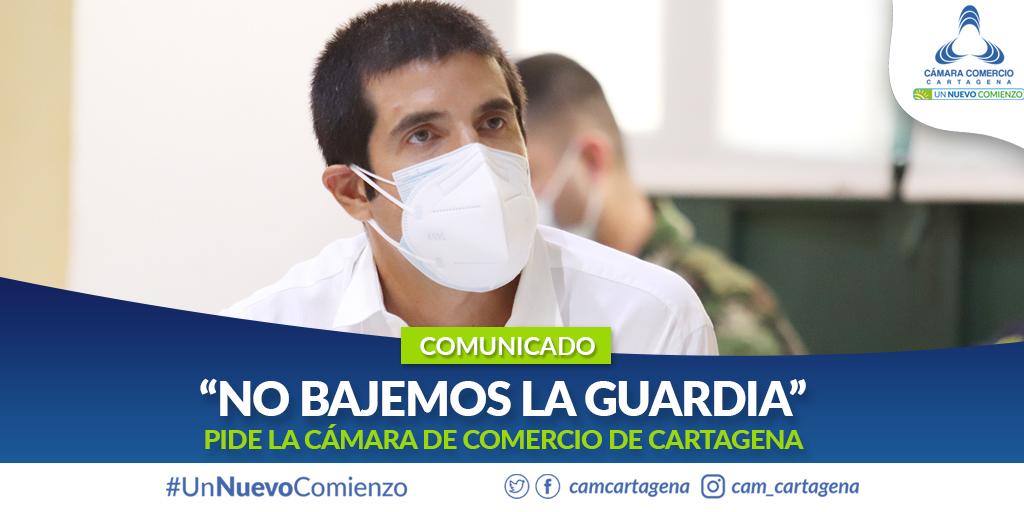 """""""No bajemos la guardia"""": Cámara de Comercio de Cartagena"""